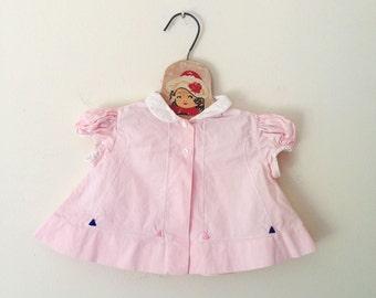 Vintage Pale Pink A Line Top (Size 3 Months)