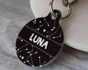 Personalised Constellation Pet ID Tag  - Dog Name Identification