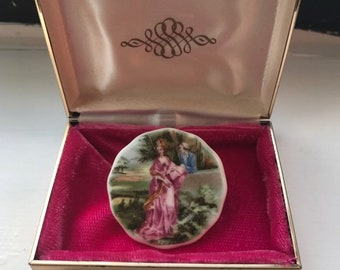 Vintage Coalport Fine China Brooch