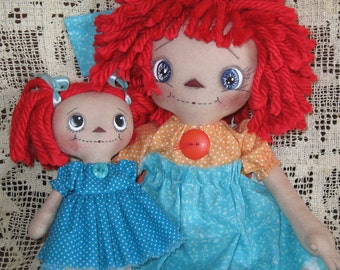 Primitive Raggedy Ann and Little Annie * Mommy and Me *