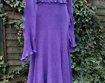 Goddess Long Dress in Dark Purple