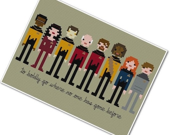 Star Trek - The Next Generation - The *Original* Pixel People - PDF Cross-stitch Pattern - INSTANT DOWNLOAD