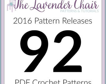 All 92 Crochet Patterns from The Lavender Chair's 2016 Year *PDF FILE ONLY* Instant Download