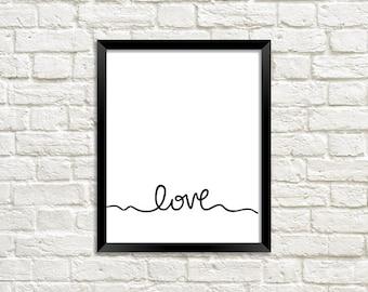 Love Art Print || Wall Art Decor || Digital Download