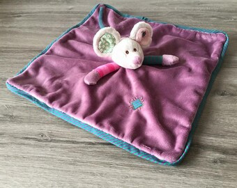 Toy mouse square 35 cm with embroidered name