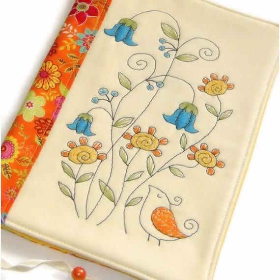Reusable Fabric Book Cover : Summer fabric book cover reusable notebook case travel