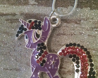 My Little pony twilight sparkle charm necklace