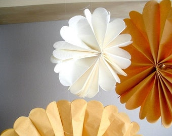 tissue paper pom poms...20 pom wheels...pom medallion...pick your color