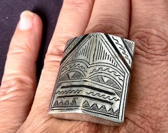 Tuareg Ring, Inner Diameter 2 cm / US size 10