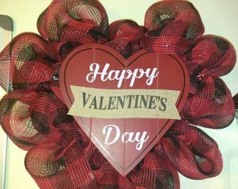 Valentine's Day Door Wall Wreath