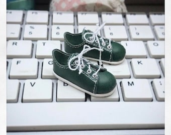 Pre Order; Green Converse for momonita  doll on box. BJD Shoes by Summomo