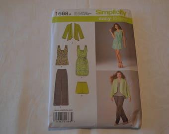 Simplicity 1668 Dress, Tunic, Pants, Shorts, Jacket Sewing Pattern uncut