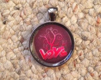 Valentine Love Image Pendant Necklace-FREE SHIPPING-