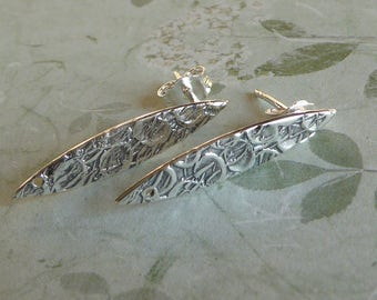 Sterling Silver Elongated Post Earring