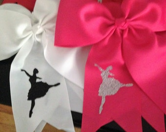 dance ponytail hair bows for girls