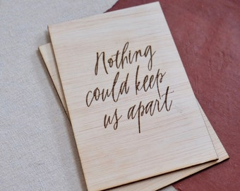 Quote Greeting Wooden Card - #1105