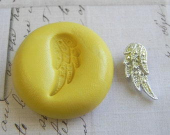 ANGEL WING - Flexible Silicone Mold -  Push Mold, Jewelry Mold, Polymer Clay Mold, Resin Mold, Craft Mold, Food Mold, PMC Mold
