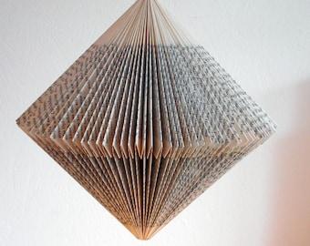 Book origami hanging