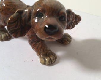 Vintage Goebel Little brown dog-puppy #30105