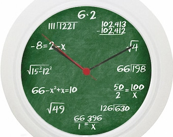 Maths Equation Wall Clock