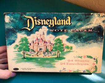 1955 Disneyland Note Paper with Envelopes Souvenir