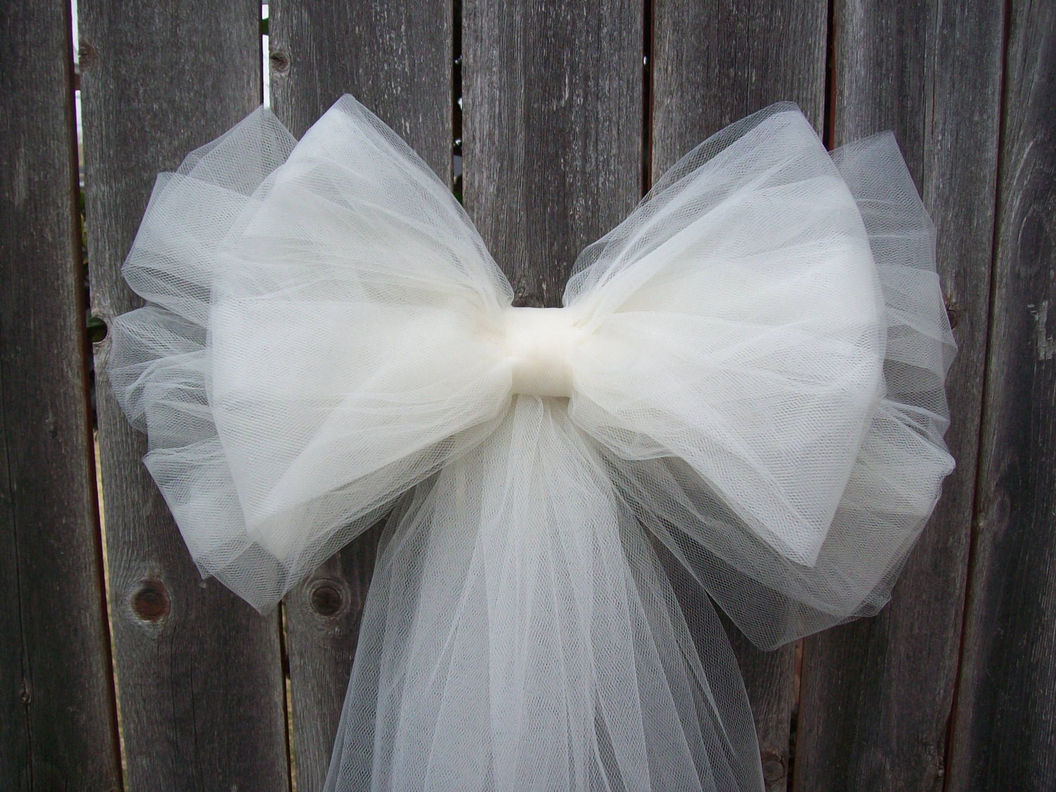 Tulle Pew Bow OVER 20 COLORS Church Pew Decor Tulle Pew