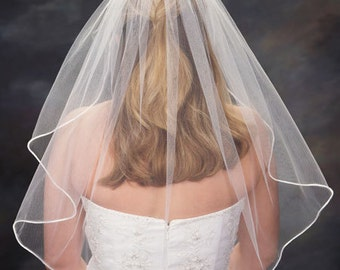 1 Tier Elbow Length Veil