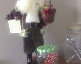 Jar of chenille candy canes