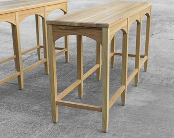 Sofa Console Table - Sofa table - Entry Table- Solid oak hardwood - Custom Furniture - Handmade in the USA - Salvaged wood