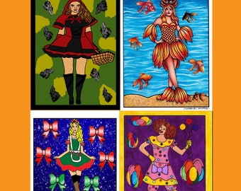 5 Digital Coloring Pages From COSTUME GIRLS Coloring Book