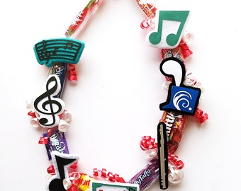 Music Gift - Flute Gifts - Flute Instrument - Gifts for Musicians - Music Teacher Gift - Music Notes - Music Student Gift - Candy Lei