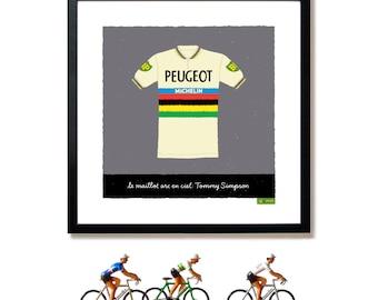 Cycling Art, Rainbow Jersey, World Champion Print