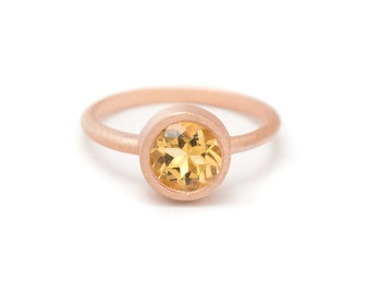 Citrine in Gold Gemstone Ring - Yellow Gold Ring - Gemstone Ring - Citrine Ring - Sizes 4.5, 5, 5.5, 6, 6.5, 7, 7.5, 8, 8.5, 9, 9.5 and 10