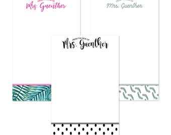 Personalized Teacher Notepad | Stationery Lover | Teacher Gifts | Teacher Appreciation | Teacher Stationery | Personalized Notepad