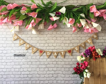 BEST DAY EVER Mr Mrs Photobooth Banner Burlap Hessian Banner,36 colours ,Rustic wedding Photo booth ,Top Table Decor , Wedding Banner