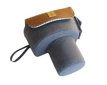 Camera Case Bag - Custom Fujifilm / Nikon / Canon / DSLR / SLR / DC Camera Case Bag - Smoky Blue