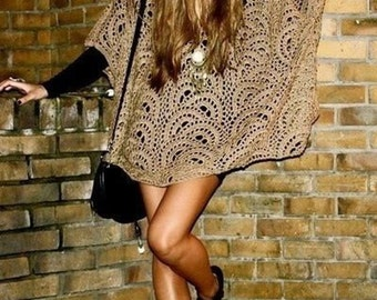 PDF CROCHET PATTERN - Crochet Poncho, Womens Poncho, Crochet Wrap, Sweater Pattern, Easy Crochet Pattern, Boho Poncho, Clothing Patterns