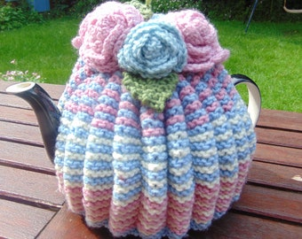 Hand Knitted  Tea Cosy  4- 6 cup