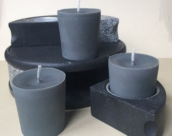 Grey Unscented Soy Wax Votives