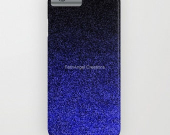 Blue and Black Glit Gradient Phone Case 18 Styles Available! - iPhone, iPod, and Samsung Galaxy!