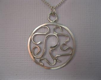 Flourish Scroll Long Necklace