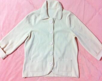 Vintage Pastel Pink Cardigan Sweater, Vintage Mod Pastel Pink Sweater, Vintage Pastel Pink Cardigan,