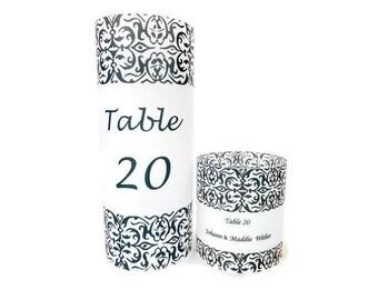 Table numbers,  Luminaries , Wedding  centerpiece, wedding candle, wedding luminary, wedding name card, wedding place card, candle name card