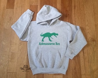 Kids dinosaur sweatshirt, T rex dinosaur hoodie, dinosaur hooded sweatshirt, gifts for kids