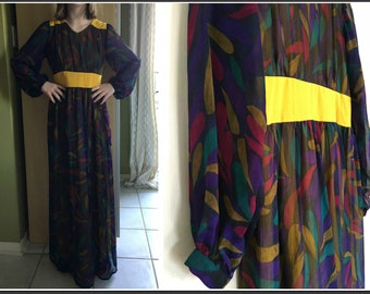 Vintage 1970s Handmade Maxi Dress - Size XS