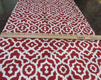 TABLE RUNNER,  Red & White, Graphic Design