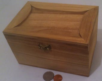 Vintage Wooden Storage Box, Stash Box, Keepsake Box, 6 1/2 x 4 1/2 x 4, Storage Box, Wood Box