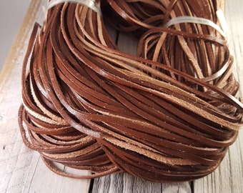 Saddle Brown Genuine Leather Flat Cord Lace 3mm