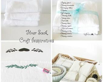 Cotton Flour Sack Towels, Craft Towel, Craft Fabric, Stencil Towel, Cotton Fabric