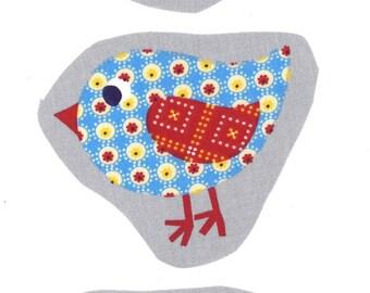 Textil de la aplicación imágenes coser 'mucha diversión 3 aves'